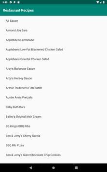 Restaurant Recipes screenshot 4
