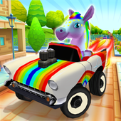 Pony Craft Unicorn Car Racing - Pony Care Girls आइकन