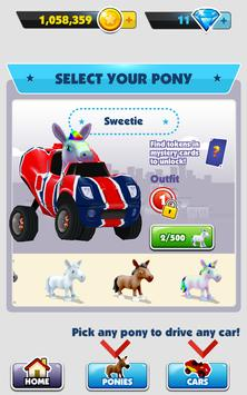 3 Schermata Pony Craft Unicorn Car Racing - Pony Care Girls