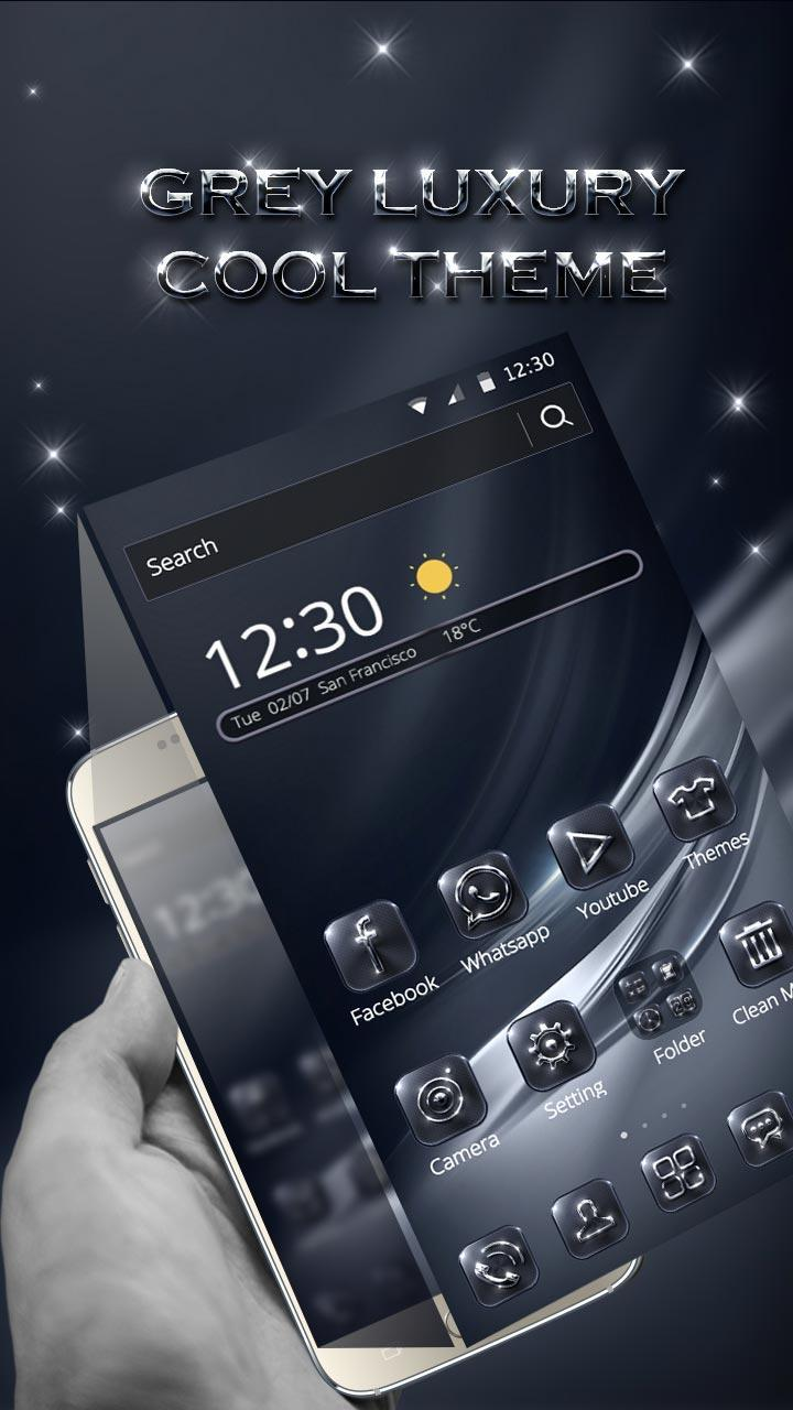 Grey Luxury Cool Metal Theme for Android - APK Download