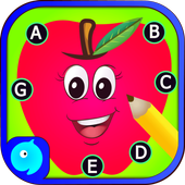 Dot to dot Game - Connect the dots ABC Kids Games ícone