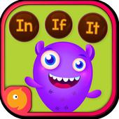 ikon Kindergarten kids Learn Rhyming Word Games