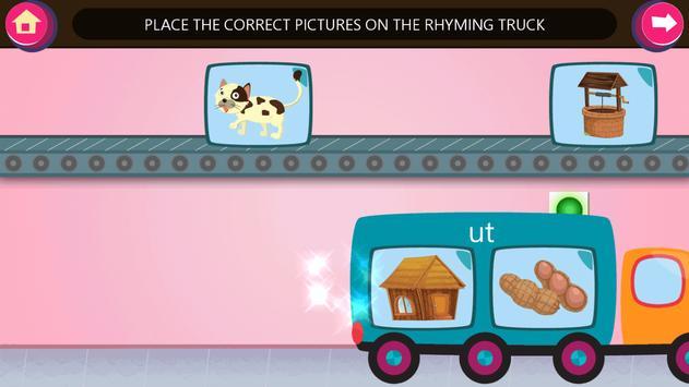 Kindergarten kids Learn Rhyming Word Games screenshot 14