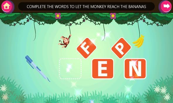 Kindergarten kids Learn Rhyming Word Games screenshot 1