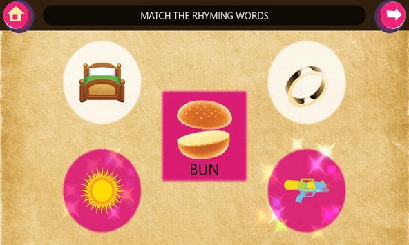 Kindergarten kids Learn Rhyming Word Games screenshot 4
