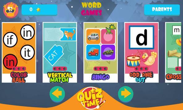 Kindergarten kids Learn Rhyming Word Games screenshot 6