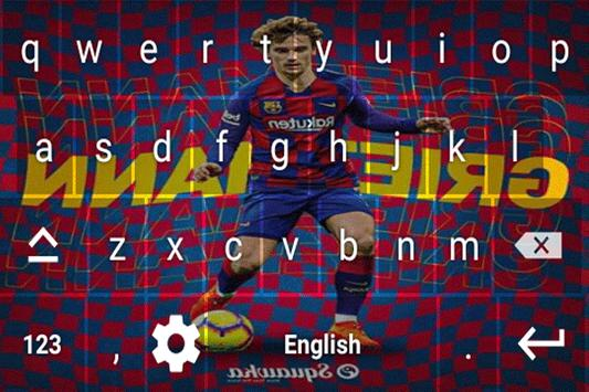 Antoine Griezmann Keyboard theme screenshot 3