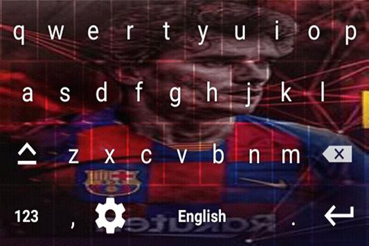 Antoine Griezmann Keyboard theme screenshot 4