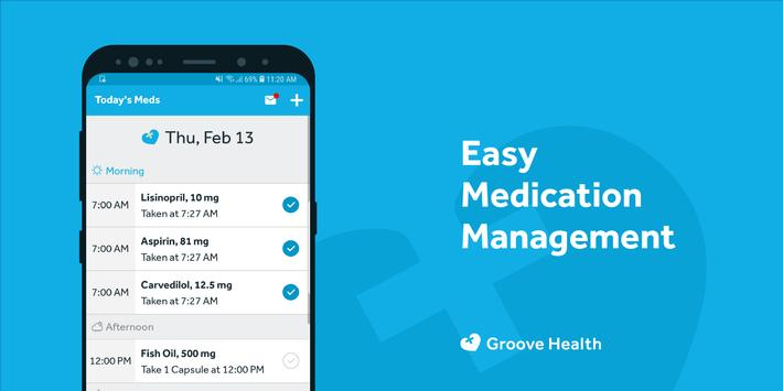 Groove Health Plakat