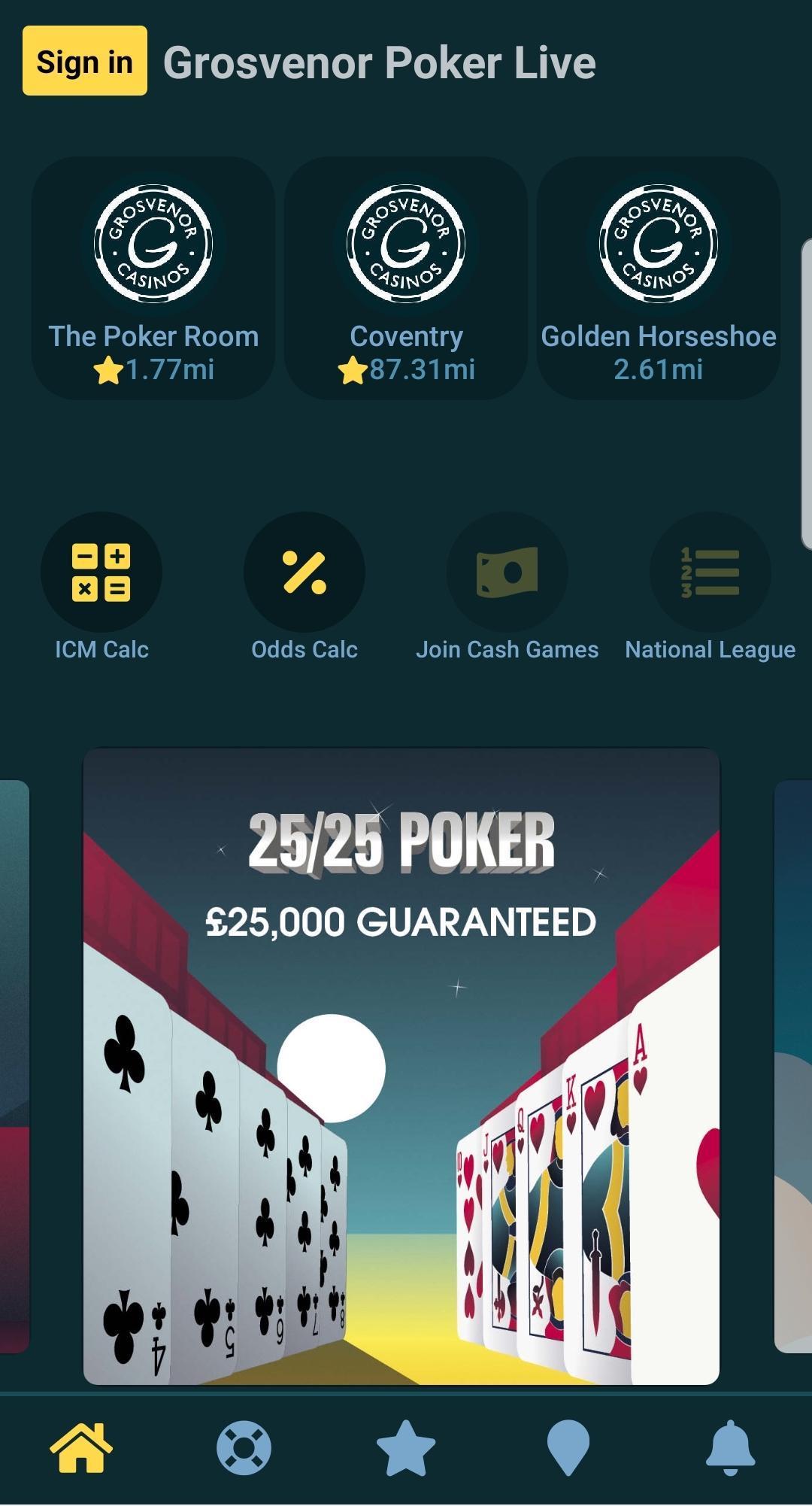 Grosvenor poker online