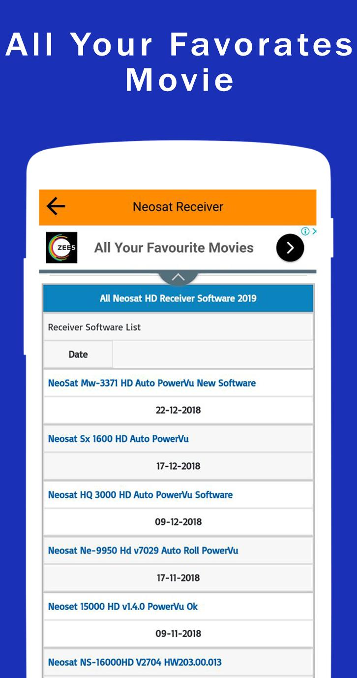 All Satellite Dish Receiver Software Downloader for Android