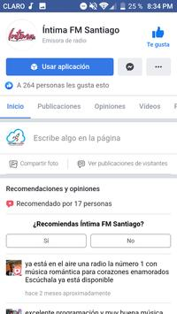 Intima FM (Santiago) screenshot 2