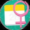 Calendrier Menstruel icône