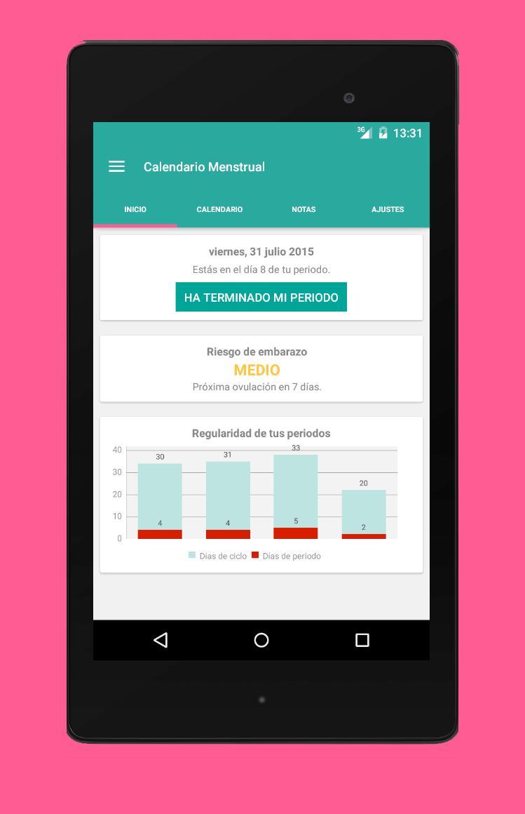 Calendario Menstrual De 31 Dias.Calendario Menstrual For Android Apk Download