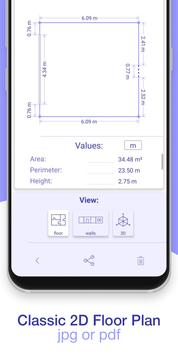 AR Plan 3D Ruler – Camera to Plan, Floorplanner स्क्रीनशॉट 5