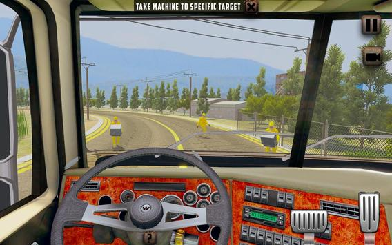 ओवरस्ड लोड लोड कार्गो ट्रक सिम्युलेटर 201 9 स्क्रीनशॉट 4