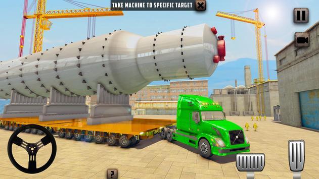 ओवरस्ड लोड लोड कार्गो ट्रक सिम्युलेटर 201 9 स्क्रीनशॉट 8