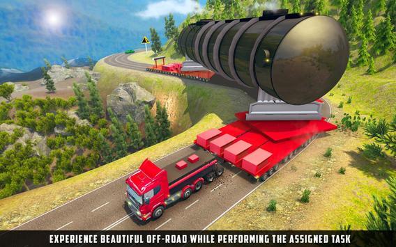 ओवरस्ड लोड लोड कार्गो ट्रक सिम्युलेटर 201 9 पोस्टर