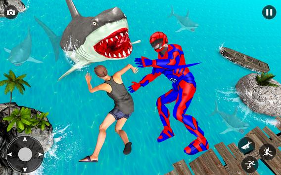 Superhero robot game police hero: rescue mission screenshot 12