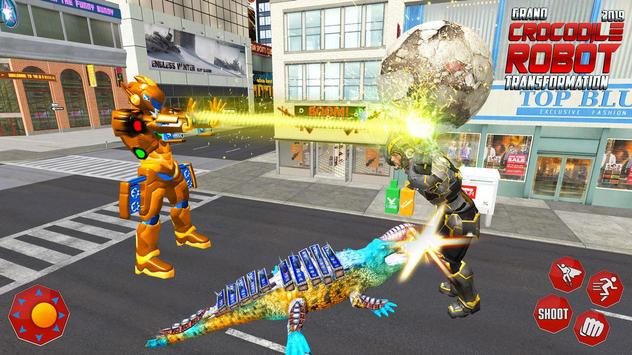 Real Robot Crocodile Transformation Fight screenshot 12