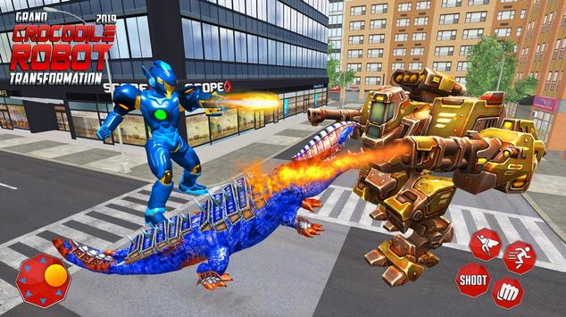 Real Robot Crocodile Transformation Fight screenshot 1