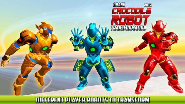 Real Robot Crocodile Transformation Fight screenshot 2
