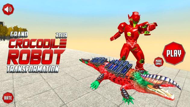 Real Robot Crocodile Transformation Fight screenshot 5