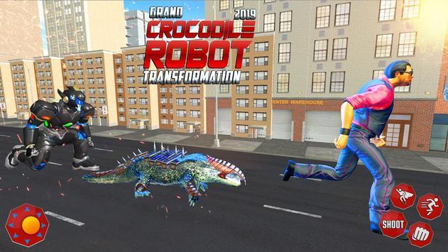 Real Robot Crocodile Transformation Fight screenshot 8