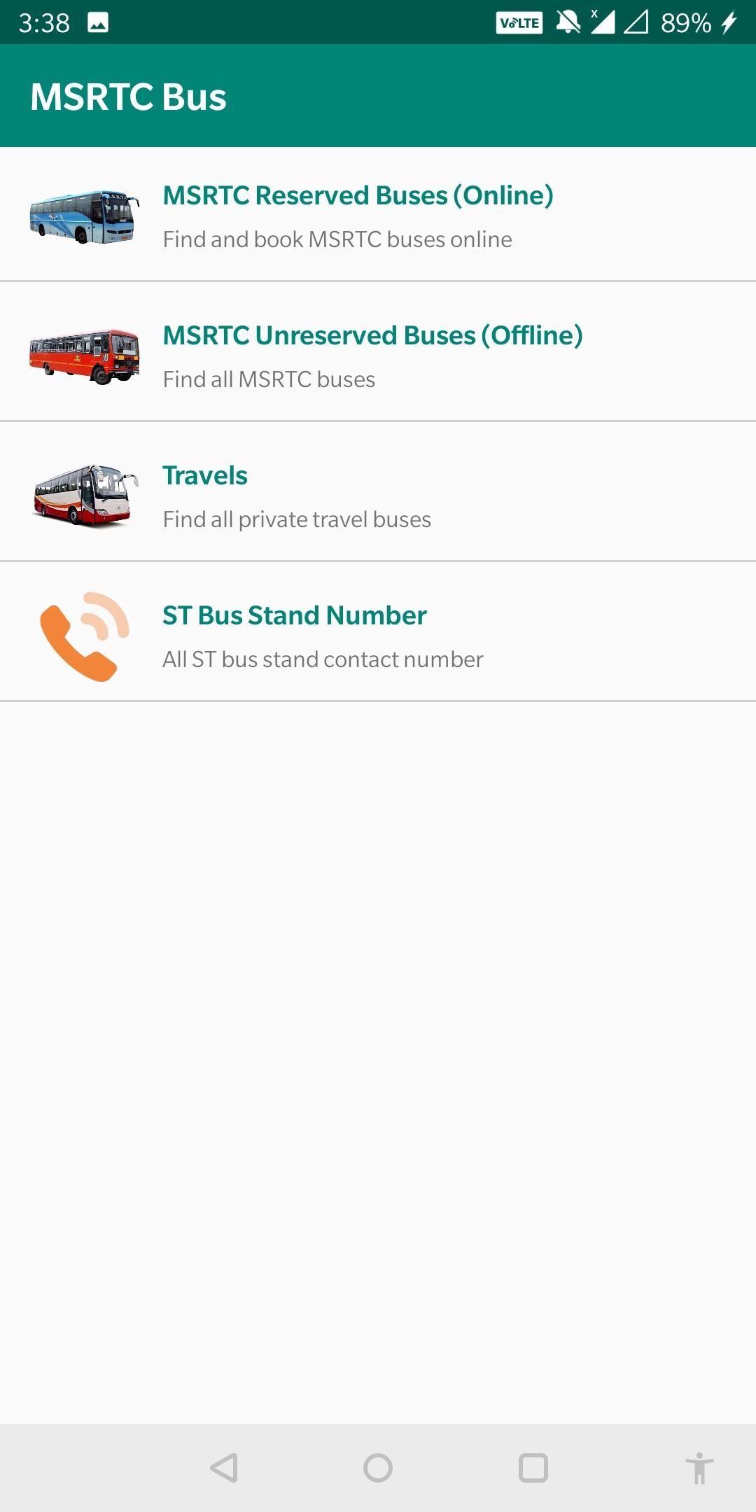 Buses Schedule & Timetable for MSRTC Maharashtra for Android