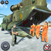 OffRoad US Army Helicopter Prisoner Transport Game أيقونة
