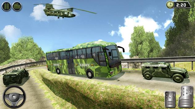 OffRoad US Army Helicopter Prisoner Transport Game تصوير الشاشة 13