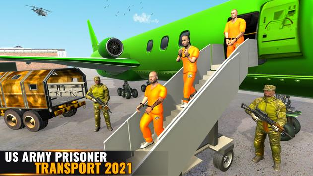 US Army Prisoner Transport Plane: New Army Games screenshot 8