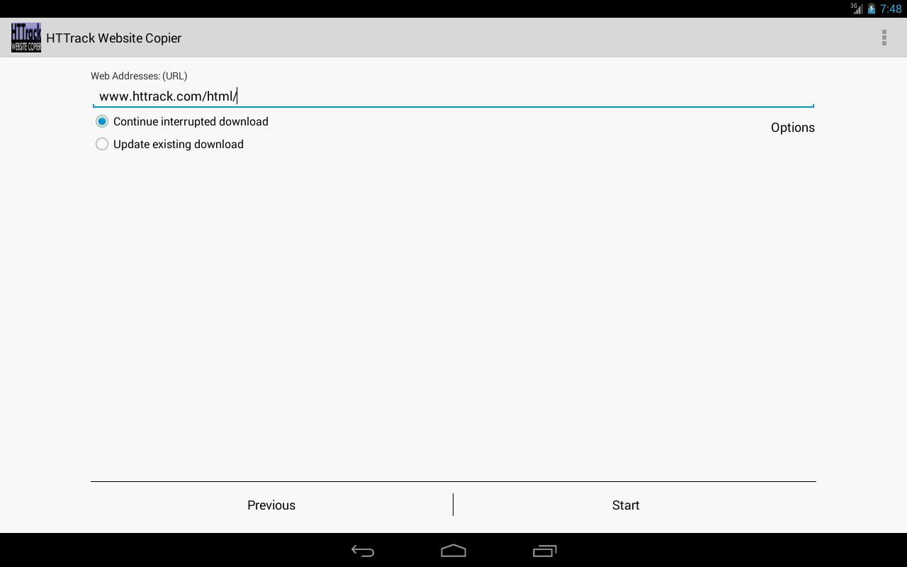 HTTrack Website Copier for Android - APK Download