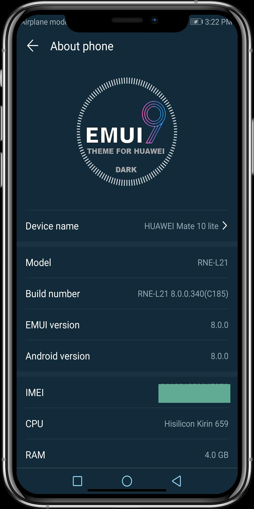 Theme Emui-9 Dark for Huawei for Android - APK Download
