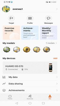 2 Schermata Huawei Health