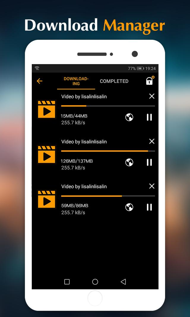 Gratis Video Downloader Hub til Android - Apk Download-9160