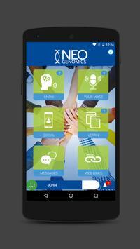 NeoGenomics App poster