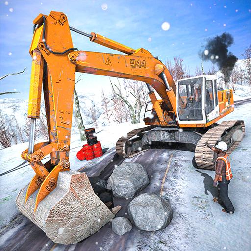 Offroad Snow Excavator: Grand Crane Simulator Game