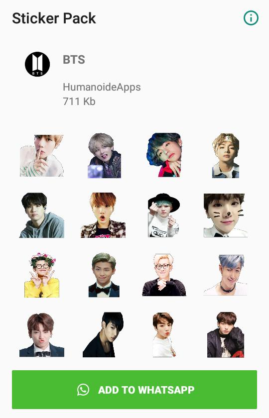 Bts Whatsapp Stickers Wastickerapps Kpop For Android Apk