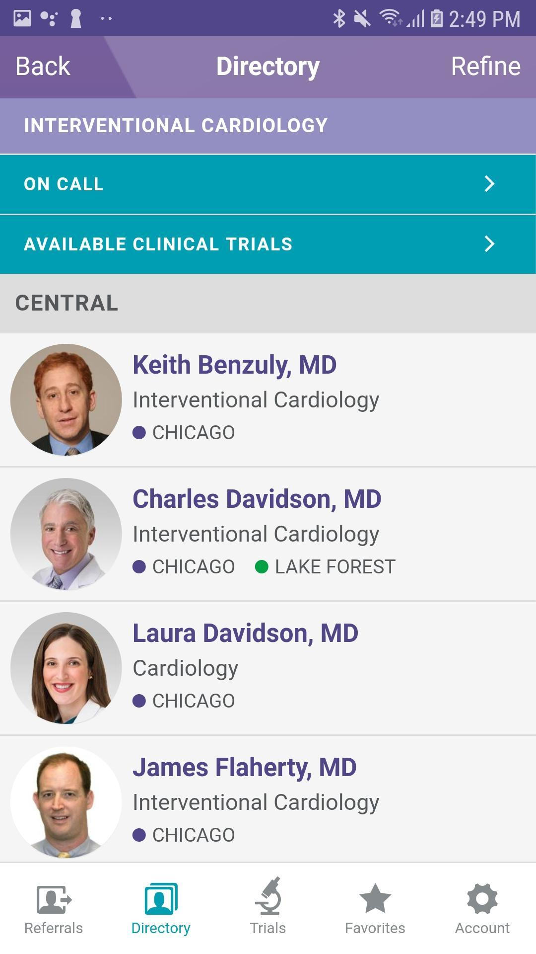Northwestern Medicine Cardiovascular MD Referral for Android