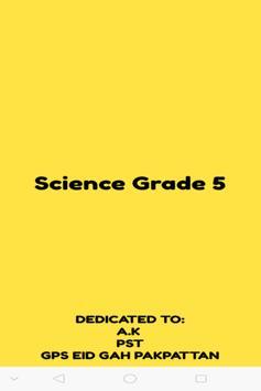 Science Grade 5 poster