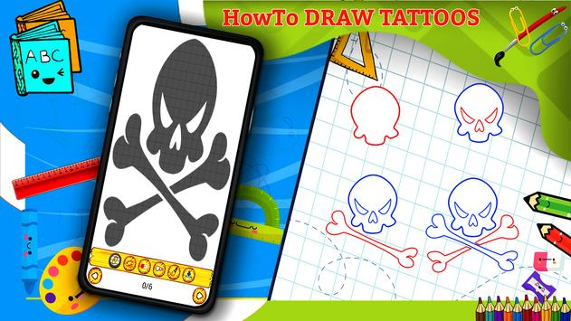 Learn How to Draw Tattoos Characters Step by Step screenshot 3