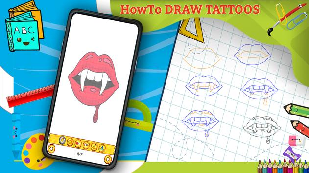 Learn How to Draw Tattoos Characters Step by Step screenshot 7
