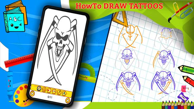 Learn How to Draw Tattoos Characters Step by Step screenshot 4