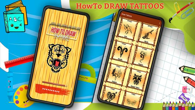 Learn How to Draw Tattoos Characters Step by Step screenshot 5