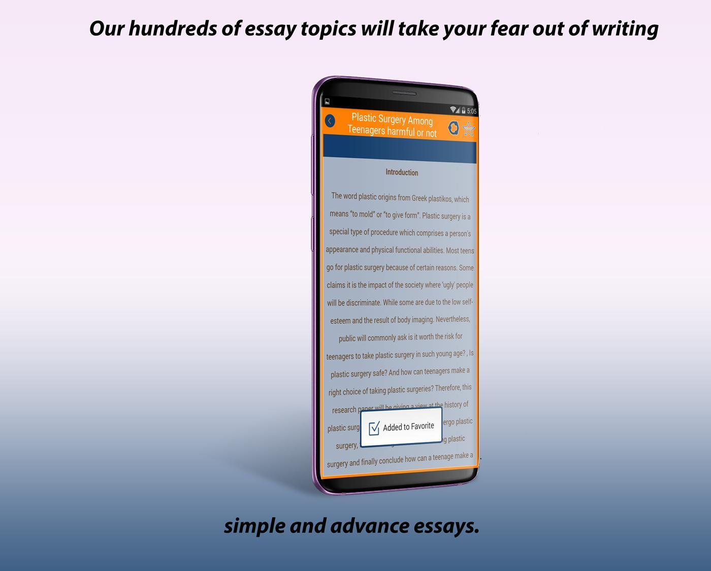 Essays About High School  A Modest Proposal Ideas For Essays also English Essay Books Best English Essays For Android  Apk Download Term Papers And Essays