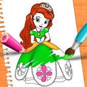 Princess Color Book Painting Fun icon