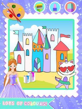 Princess Color Book Painting Fun screenshot 1