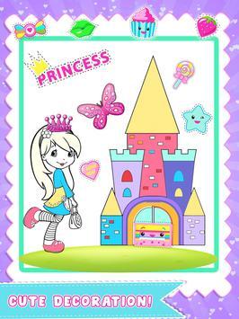 Princess Color Book Painting Fun screenshot 2