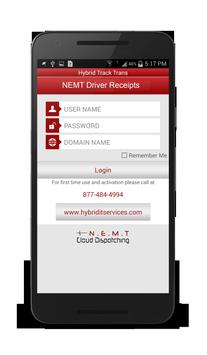 NEMT Driver Receipts poster